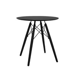 Okrúhly jedálenský stôl čierna MONTY poškodený tovar