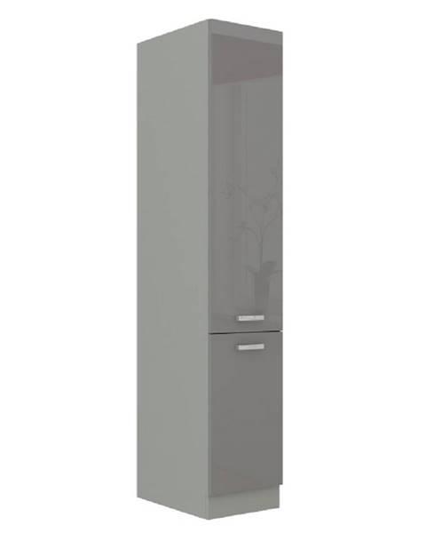 Tempo Kondela Vysoká dvojdverová skrinka sivá vysoký lesk/sivá PRADO 40 DK-210