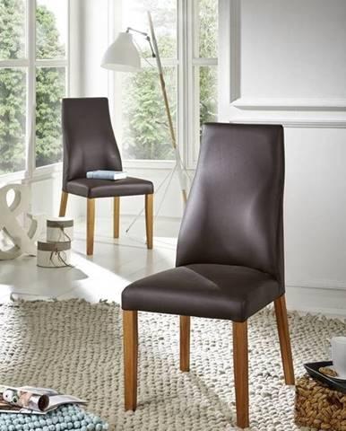 HAMBURG IV. Jedálenská stolička,koža, hnedá