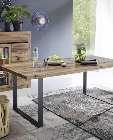 VEVEY Jedálenský stôl 180x90 cm, tmavohnedá, dub