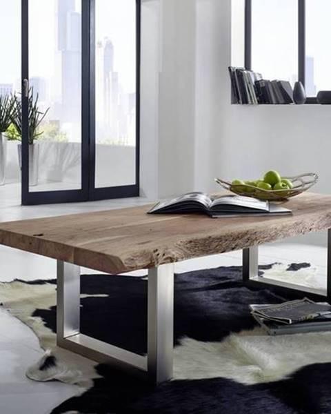 Bighome.sk METALL Konferenčný stolík 120x80 cm, akácia
