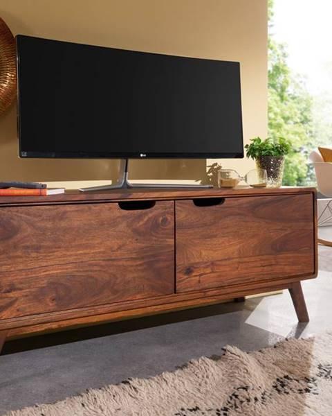 Bighome.sk SKANE TV stolík II. 120x48 cm, palisander, hnedá