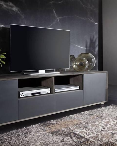 Bighome.sk TAMPERE TV stolík 50x210 cm, dub, dymová