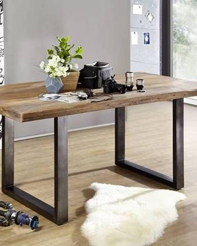 IRON Jedálenský stôl 180x90 cm, mango, prírodná