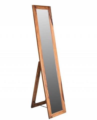 MONTREAL Zrkadlo 175x35 cm, hnedá, palisander