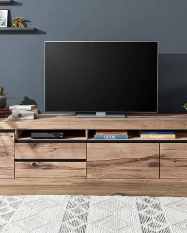 VEVEY TV stolík 260x60 cm, svetlohnedá, dub