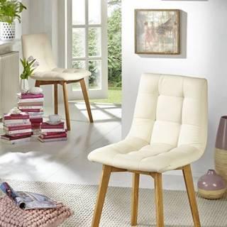 HAMBURG Jedálenská stolička čalúnená, krémová