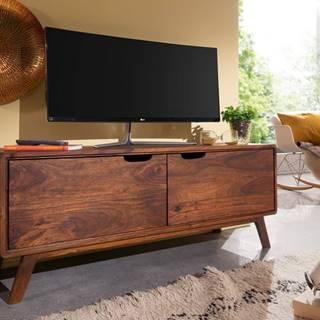 SKANE TV stolík II. 120x48 cm, palisander, hnedá