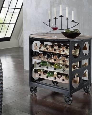 INDUSTRY Servírovací stolík 100x100 cm, staré drevo