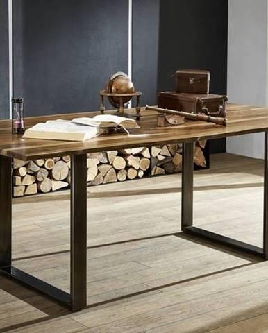 ROUND Jedálenský stôl METALL 180x90 cm