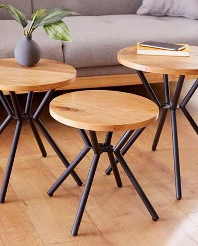 Set 3 príručných stolíkov FACTOR