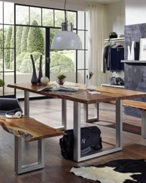 Bighome.sk METALL Jedálenský stôl 200x100 cm, akácia
