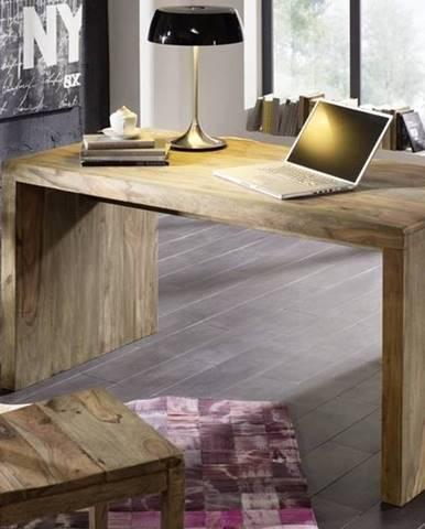 GREY WOOD Písací stôl 148x75 cm, palisander