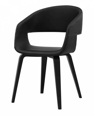Jedálenská stolička s opierkami NOVA, čierna