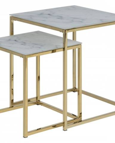 Set konferenčných stolíkov ALISMA, biela