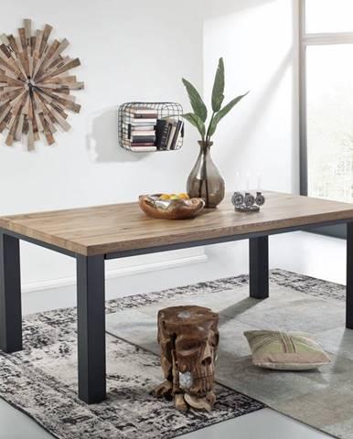 TIROL Jedálenský stôl 160x90 cm, tmavohnedá, dub