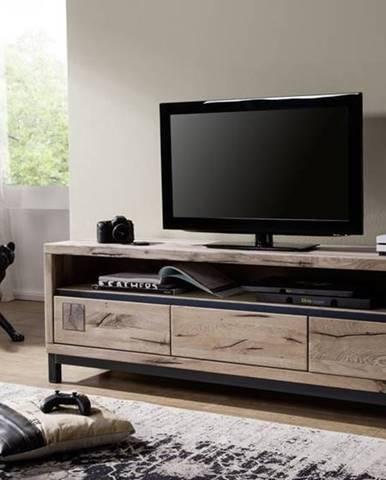 TIROL TV stolík 170x56, svetlohnedá, dub