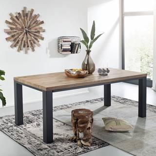 TIROL Jedálenský stôl 260x100 cm, tmavohnedá, dub