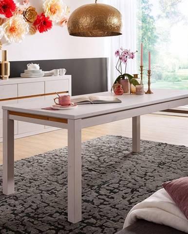 ALBURYJedálenský stôl 180x90 cm, borovica, biela