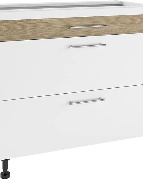 MERKURY MARKET Skrinka do kuchyne Luna Lignum Bianco Super Mat PSZ 90/3