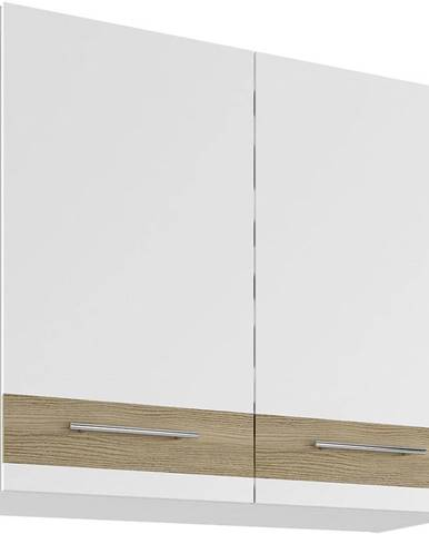 Skrinka do kuchyne Luna Lignum Bianco Super Mat UO 80/2