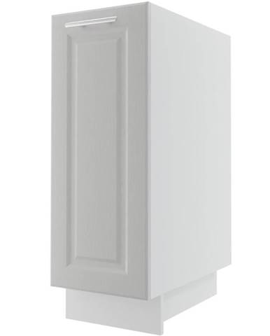 Kuchynská skrinka Emporium D1D/30 light grey stone/biela