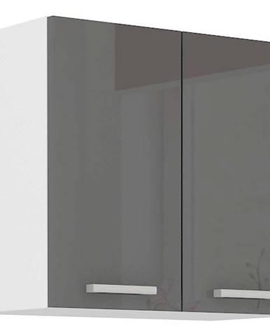 Skrinka do kuchyne SONIA šedý lesk 60G-60