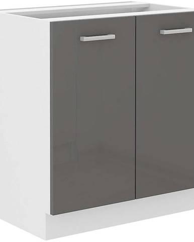 Skrinka do kuchyne SONIA šedý lesk 80D 2F BB