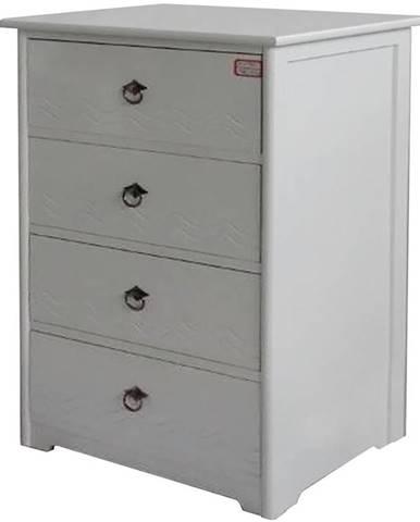 Komoda biela 4 zásuvky 12775