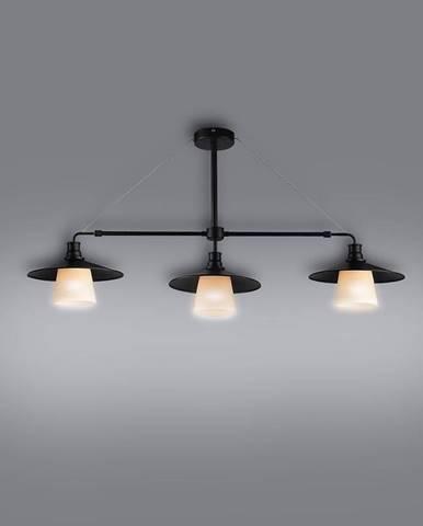 Loft Závesné svietidlo 3x60w E27 Čierna