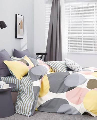 Bavlnená saténová posteľná bielizeň ALBS-01177B/2 140x200