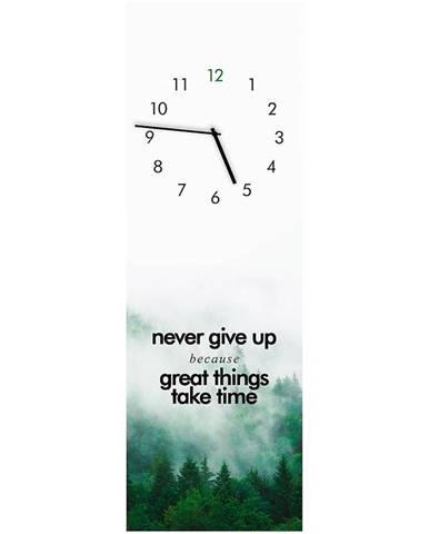 Sklenené hodiny 20X60 GREAT THINGS