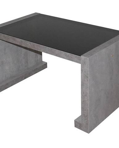 Konferencny stolik Arsinoe betón/čierne sklo