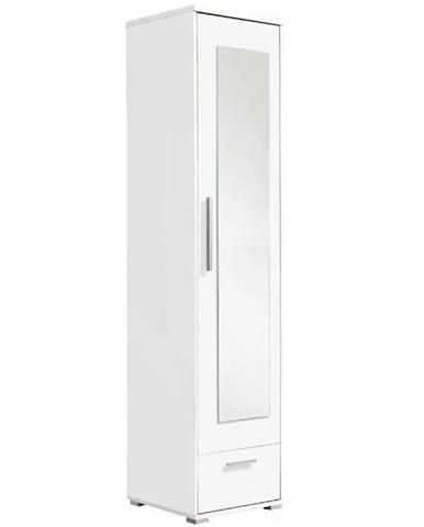 Vysoká skrinka so zrkadlom Hit H1 48 cm biela