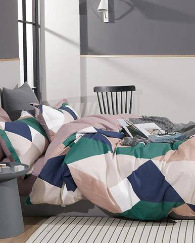 Bavlnená saténová posteľná bielizeň ALBS-01219B 140X200