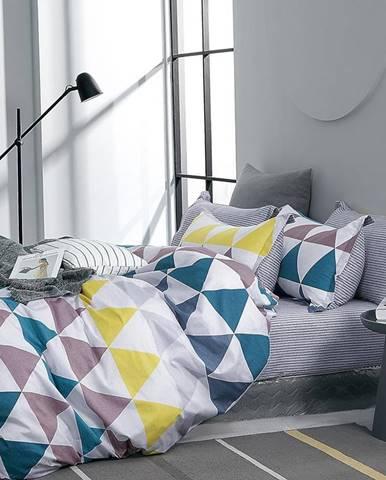 Bavlnená saténová posteľná bielizeň ALBS-01226B 160X200