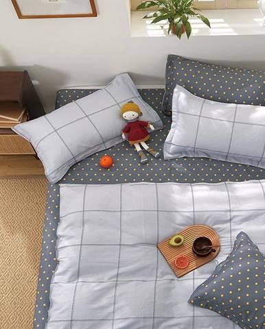 Bavlnená saténová posteľná bielizeň ALBS-01228B 140X200