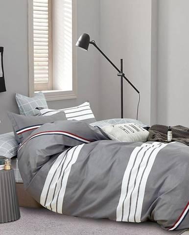 Bavlnená saténová posteľná bielizeň ALBS-01229B 160X200