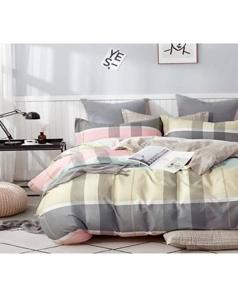 MERKURY MARKET Bavlnená saténová posteľná bielizeň ALBS-01162B/2 140X200 Lasher
