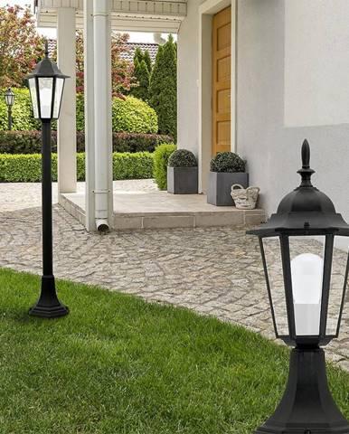 Stojaca záhradná lampa Liguria ALU1047P1B ćerna KS1