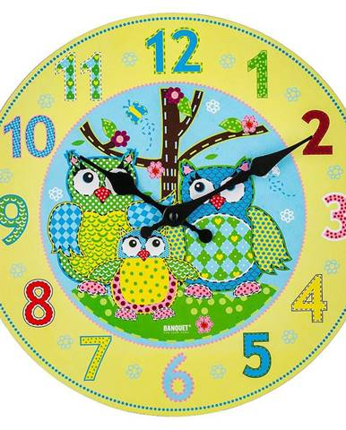 Nástenné hodiny Owl 30cm