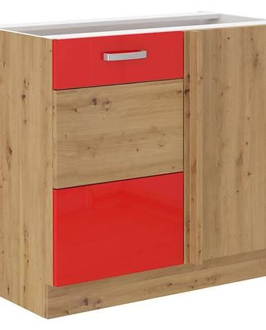 Skrinka do kuchyne Artisan červená lesk 105ND 1F BB