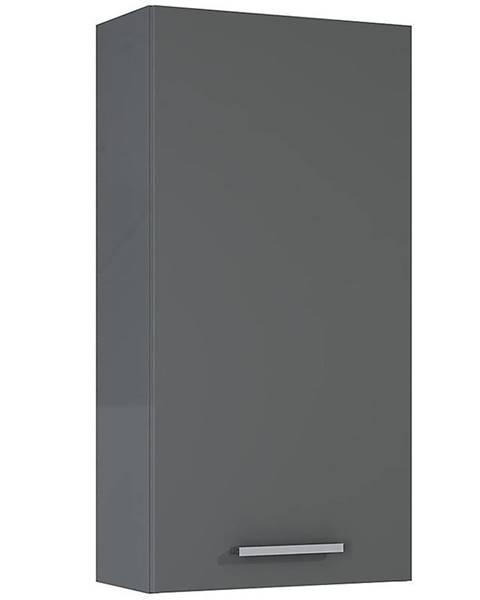 MERKURY MARKET Závesná kúpeľňová skrinka Royal 40 1D anthracite