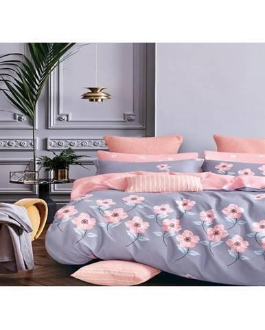 Bavlnená saténová posteľná bielizeň albs-01044/2 140x200 lasher