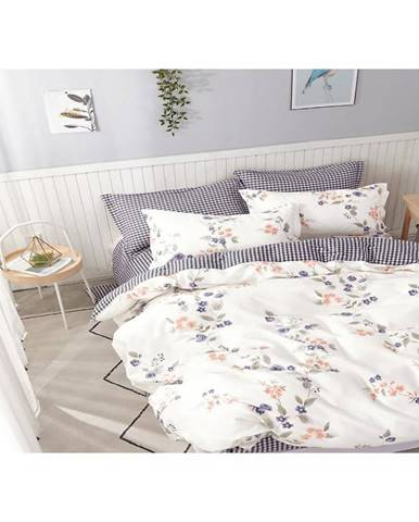 Bavlnená saténová posteľná bielizeň albs-01065b/2 140x200 lasher