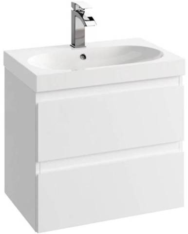 Kúpeľňová skrinka pod umývadlo Como D60 0D2S biela