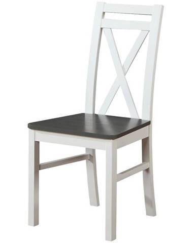 Stolička W123 biely/grafit