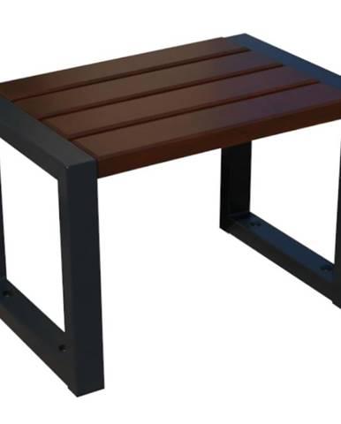 Moderná stolička bez operadla palisander