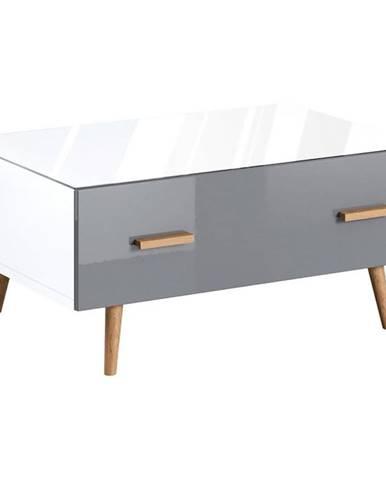Konferenčný stolík Brillo ST biela/šedá lak
