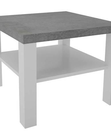 Konferenčný stolík Olaf VII bieły/beton